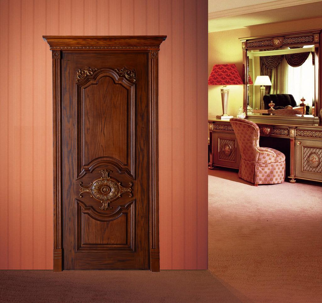 瀚森木門 歐式復古 實木門 室內門套裝門 瀚森實木門SM062 原木雕花永不變形