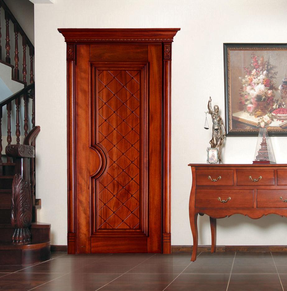 瀚森原木门YM003 书房门室内门套装门卧室门 瀚森精品 纯原木材质