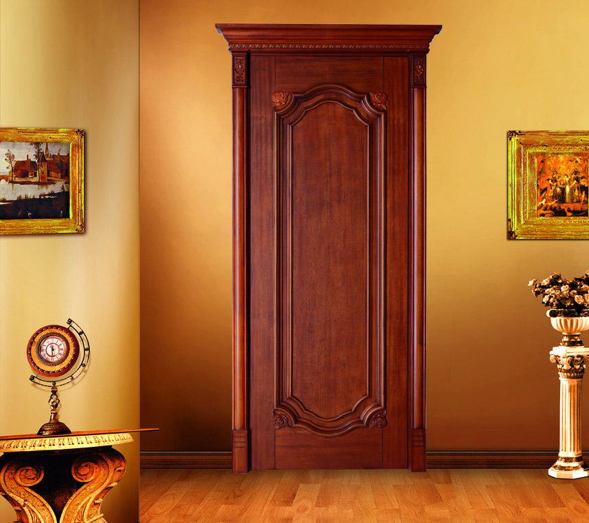 瀚森實木門SY007 整木定制木門 100%純實木門 高檔室內實木門