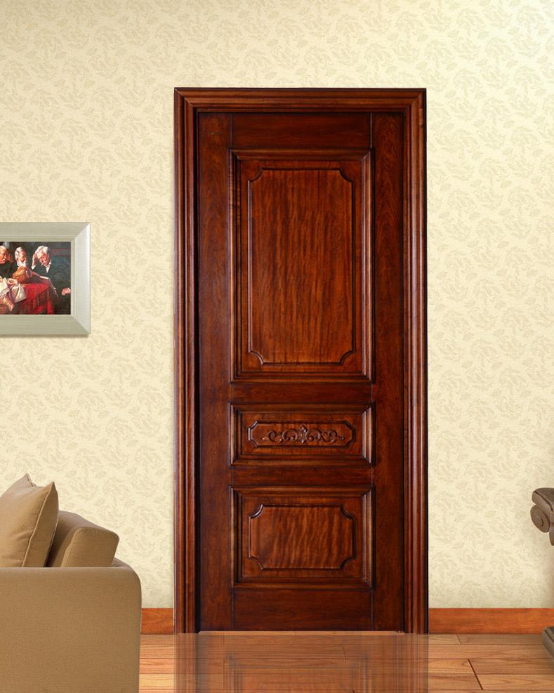 瀚森實木門SM056  100%實木門 室內臥室門 套裝門定制 環保靜音實木門 HANSEN