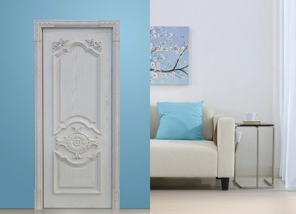 瀚森木門 北美簡約 實木門 室內門套裝門 瀚森實木門SM062 白色