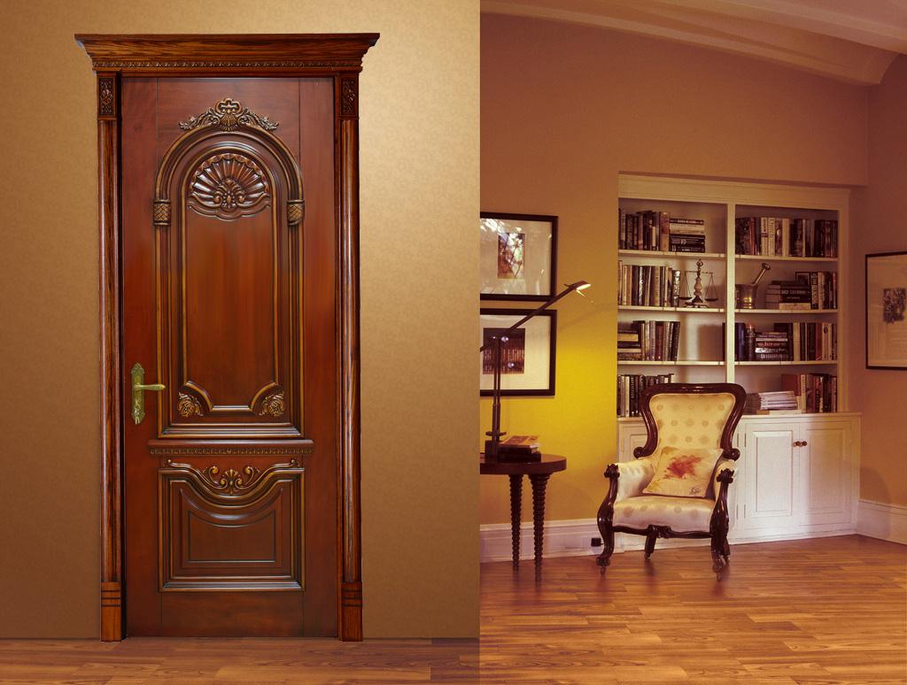 瀚森木门 HANSEN YM020 原木门十大品牌 瀚森木业荣誉出品 品质保证 100%纯原木门