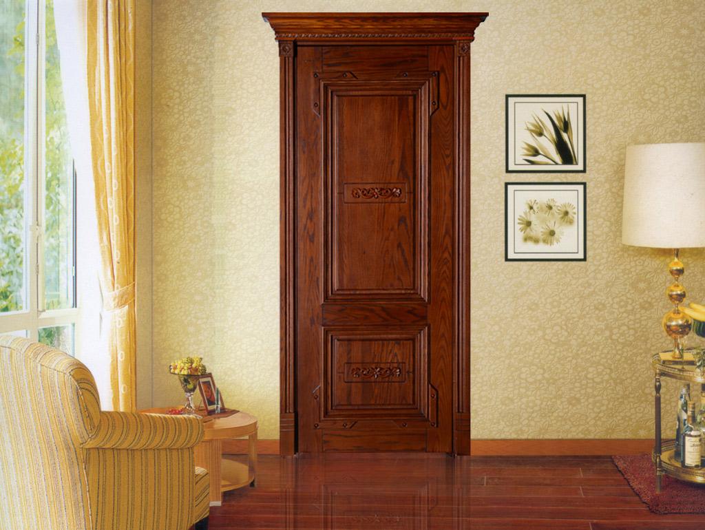 瀚森原木門 HANSEN YM001 瀚森定制精美原木門 100%純原木 美國進口原材料 歐式室內門