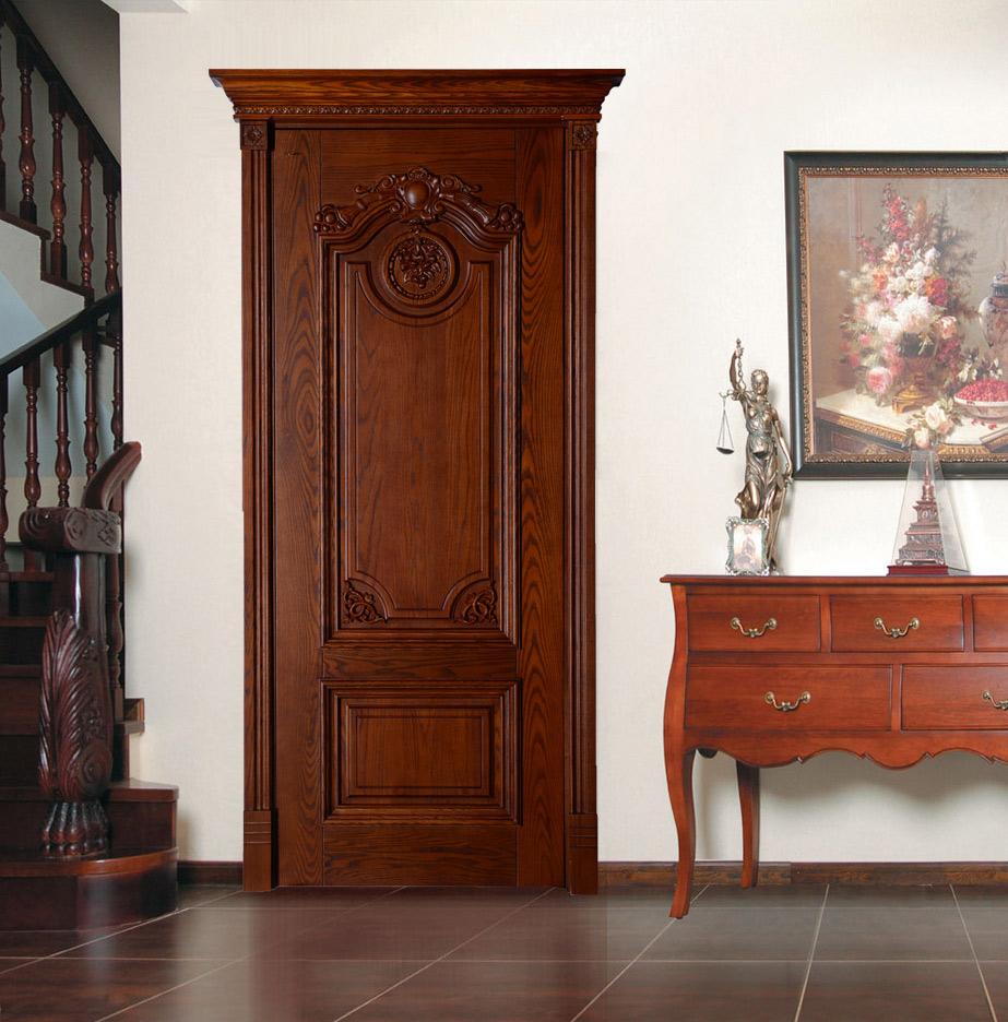 瀚森原木門YM003 書房門室內門套裝門臥室門 瀚森精品 純原木材質