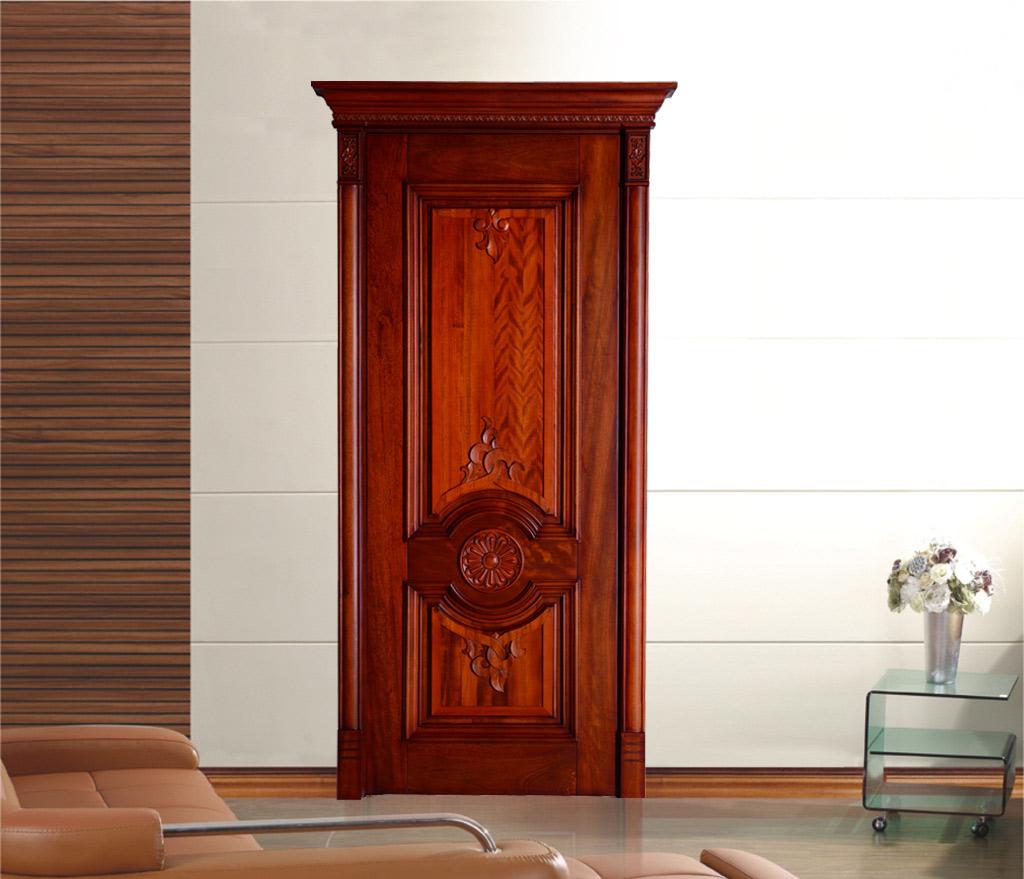瀚森原木門YM004 歐式復古原木門臥室門室內門 瀚森定制原木門